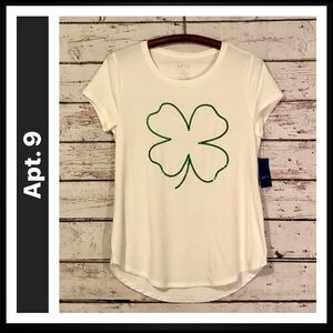 Apt. 9 Cap Sleeve V-Neck Graphic T-shirt